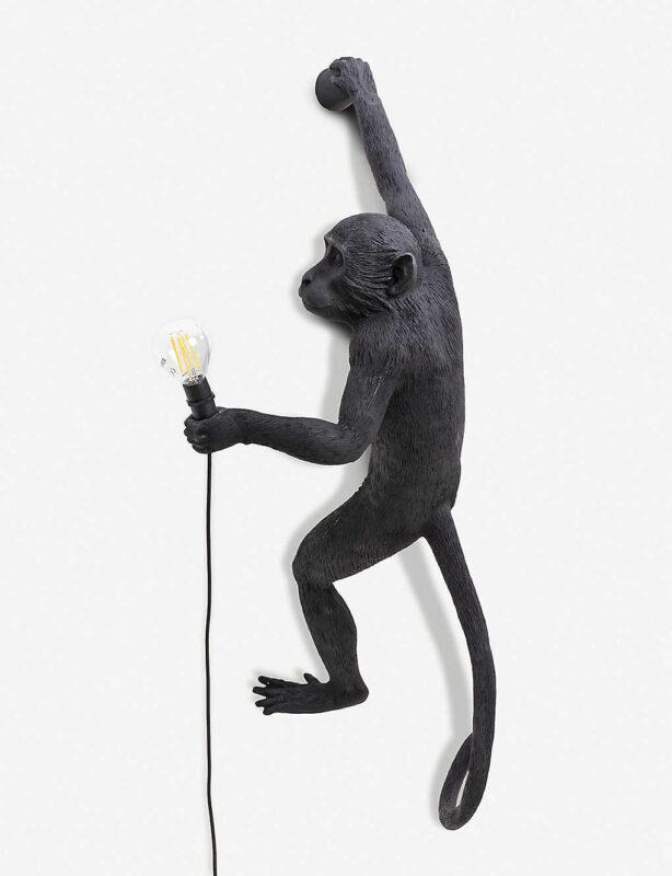 outdoor resin monkey lamp