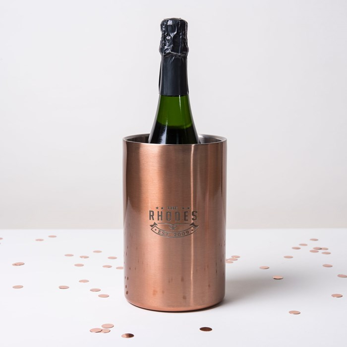 Wine gift ideas Personalised Copper Wine Cooler