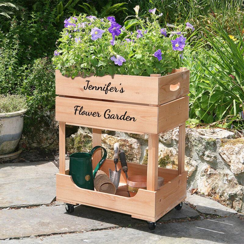 Raised box planter