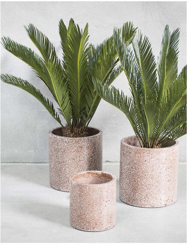 speckled terrazzo plant pot