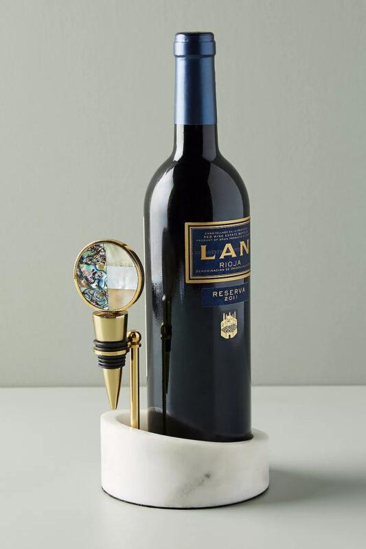 Wine Valet marble look stand