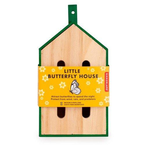 little wooden butterfly house