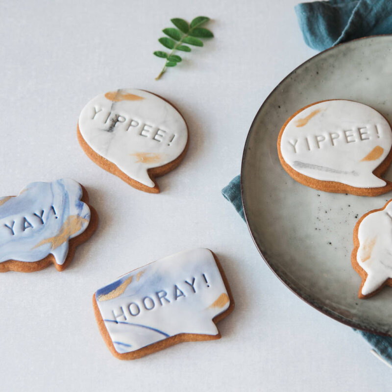 set of six biscuits postable graduation gift idea