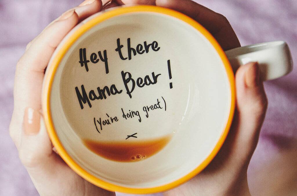 hidden message handmade mug
