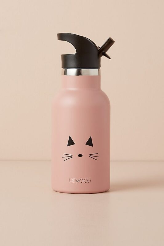 pink cat water bottle