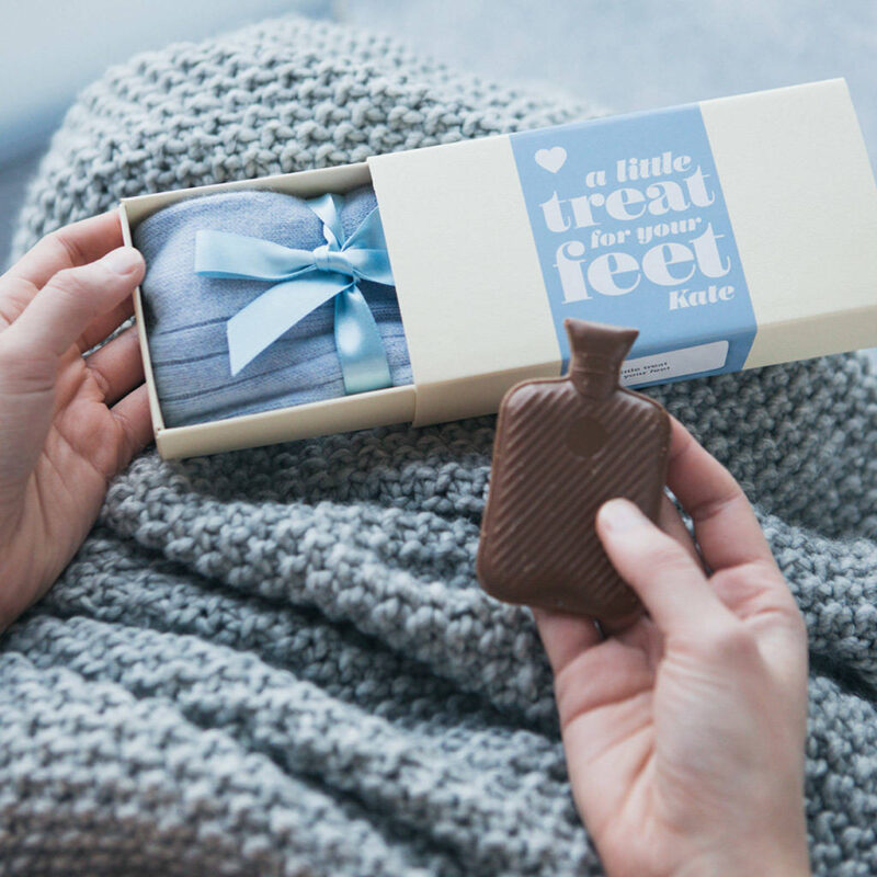 Bed socks and chocolate gift set