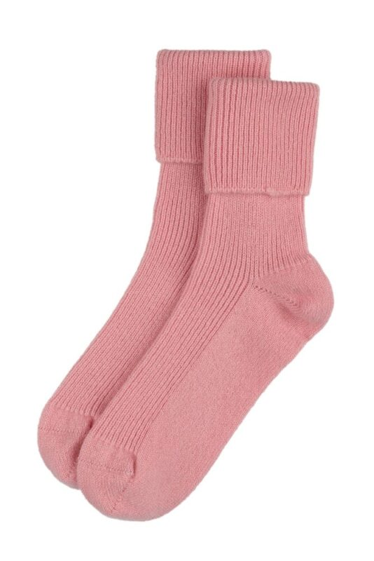 pink cashmere bed socks